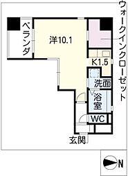 エルスタンザ栄南[3階]の間取り