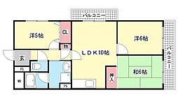 兵庫県神戸市灘区青谷町4丁目の賃貸マンションの間取り