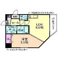 クレアート北大阪レヴァンテ[2階]の間取り
