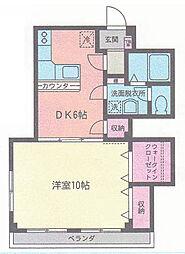 ウイングマンション シモダI[302号室]の間取り