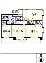 グランディアム香坂[4階]の間取り