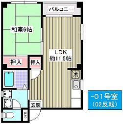 小林東マンション・II号館[301号室]の間取り