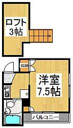 STUDIO2[2階]の間取り
