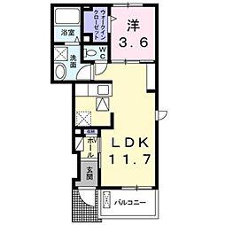 ユアーズ ヒル 8[1階]の間取り