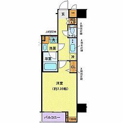 京王井の頭線 高井戸駅 徒歩6分の賃貸マンション 2階1Kの間取り