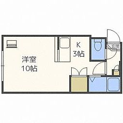 プラムコート札幌[1階]の間取り