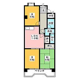 愛知県名古屋市天白区井口1の賃貸マンションの間取り
