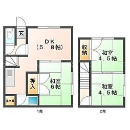 [一戸建] 北海道札幌市北区新琴似十二条11丁目 の賃貸【/】の間取り