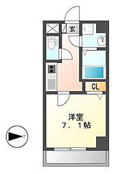 Z・R名駅[8階]の間取り
