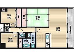 フレール江坂[305号室]の間取り