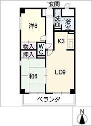 U−DINE赤城[4階]の間取り