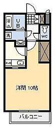リトルウイング[314号室]の間取り