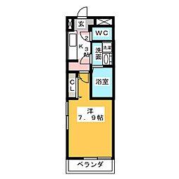 クレール・和(なごみ) 1階1Kの間取り