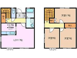 [テラスハウス] 三重県桑名市新西方3丁目 の賃貸【三重県 / 桑名市】の間取り