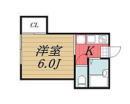 千葉県市原市平田の賃貸アパートの間取り