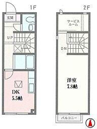 [テラスハウス] 神奈川県厚木市妻田東3丁目 の賃貸【/】の間取り