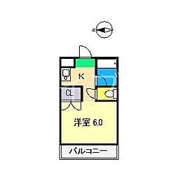 サニーパレス朝倉[2階]の間取り