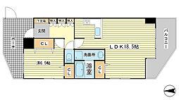 兵庫県姫路市飾磨区構5丁目の賃貸マンションの間取り