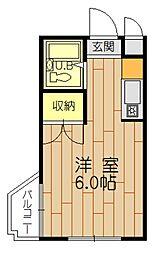 福岡県福岡市中央区地行3丁目の賃貸マンションの間取り