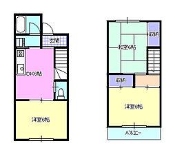[テラスハウス] 神奈川県高座郡寒川町大曲3丁目 の賃貸【/】の間取り