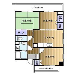 サンドエル横浜[302号室]の間取り