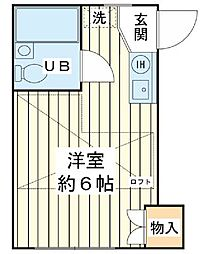 小島ハイツ[2階]の間取り