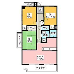 丸美ロイヤル城西[11階]の間取り