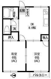 椿コーポ[1階]の間取り