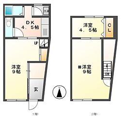 [タウンハウス] 愛知県名古屋市中区新栄3丁目 の賃貸【/】の間取り