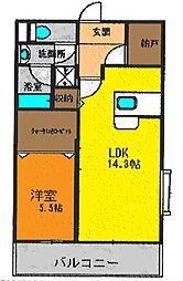 神奈川県茅ヶ崎市みずき1丁目の賃貸マンションの間取り