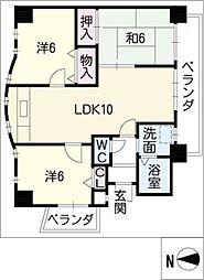 フェリス覚王山[2階]の間取り