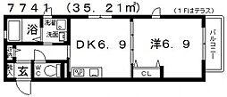 South Town 蔵家(サウスタウン蔵家)[B101号室号室]の間取り