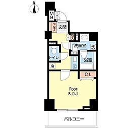 ドゥーエ横浜都筑 4階1Kの間取り