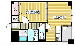 愛知県名古屋市千種区今池5丁目の賃貸マンションの間取り