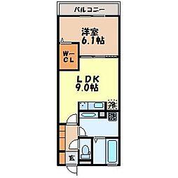 長崎県諫早市西郷町の賃貸アパートの間取り