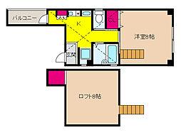 JR東海道・山陽本線 六甲道駅 徒歩10分の賃貸マンション 3階1Kの間取り