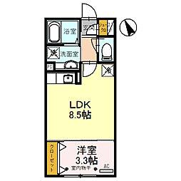 パーシモンIII[201号室]の間取り