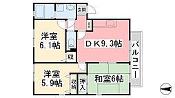 フォブール南斎院 A棟[2階]の間取り