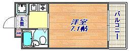 ジョイフル東灘5[303号室]の間取り
