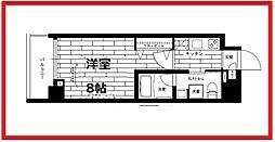 ステージグランデ上野 4階1Kの間取り