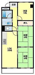 愛知県豊田市東梅坪町3丁目の賃貸マンションの間取り