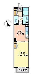 パークアクシス白壁[7階]の間取り