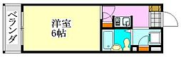 クリスタル津田沼[202号室]の間取り