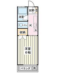 コーポセントピア[2階]の間取り