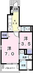 フィオレンティーナ[   1階号室]の間取り