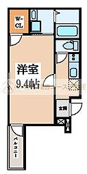 フジパレス堺南長尾Ⅴ番館[3階]の間取り