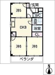 サンハイツKTB[3階]の間取り