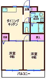 神奈川県横浜市神奈川区松ケ丘の賃貸マンションの間取り