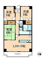 INSURANCE BLDG.XIII[3階]の間取り
