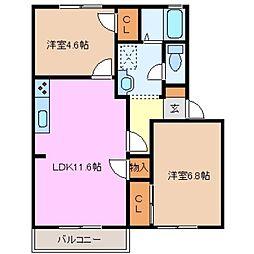 タウンA[2階]の間取り